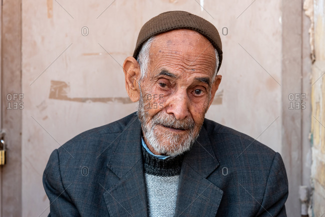 March 4, 2019: Portrait of old Iranian man. Shiraz, Iran