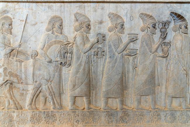 Bas reliefs in Persepolis, Iran