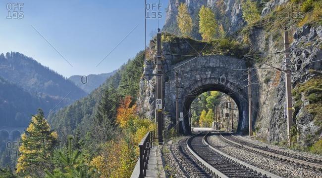 Krauseltunnel on the Semmering railway line, Breitenstein, Rax, Lower Austria, Austria, Europe