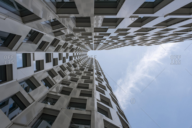 March 5, 2020: Modern architecture, facade of the Upper West high-rise, Berlin, Germany, Europe