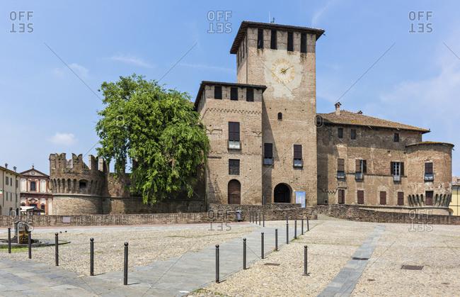 Parma, Italy - June 1, 2015: The Rocca Sanvitale or Sanvitale Castle or Fontanellato Castle