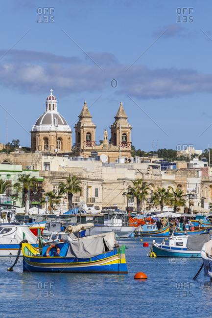 Malta - October 29, 2017: The historic city of Marsaxlokk