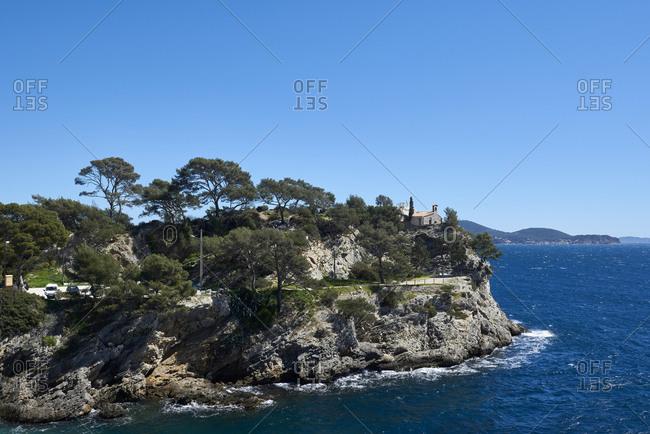 Seascapes of Anse Mejan in Toulon, Var, France