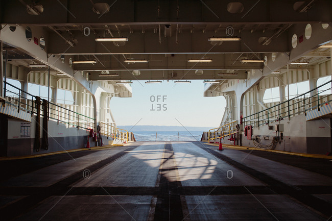 Empty ferry in Washington State, USA