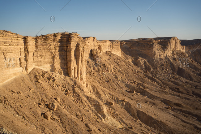 Scenery landscape of natural sandstone cliffs named the Edge of the World in Saudi Arabia