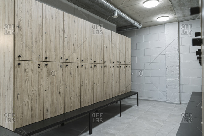 Dressing room in a gym