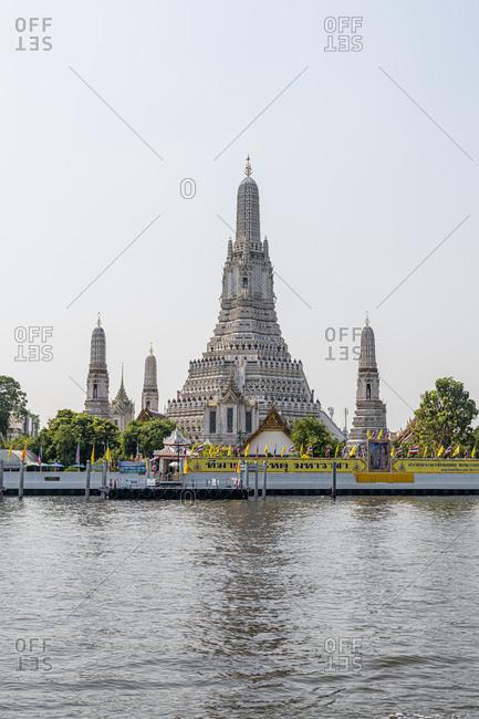 February 2, 2020: Wat Arun at the Chao Phraya River- Bangkok- Thailand