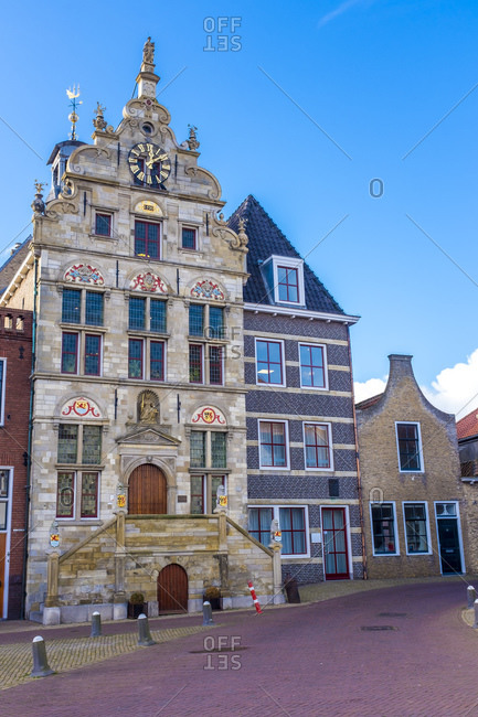 Netherlands- Zeeland- Schouwen-Duiveland- Brouwershaven- former townhall
