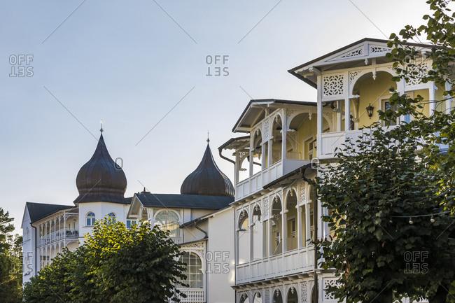 Germany- Mecklenburg-West Pomerania- Rugen Island- Binz- Ostseebad- Spa buildings in Wilhelminian style