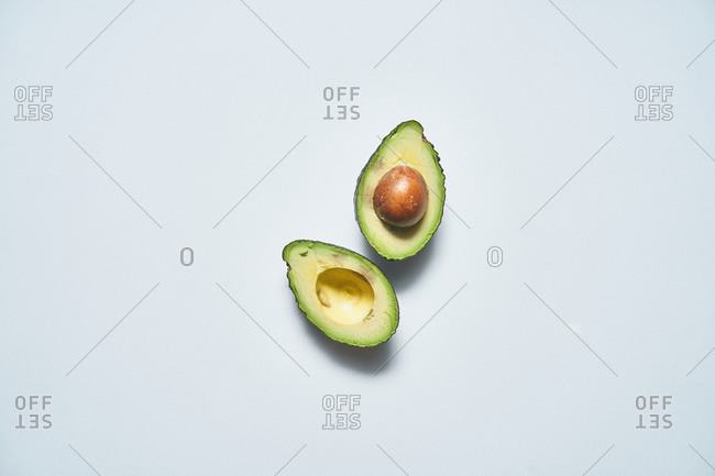 Overhead view of an avocado