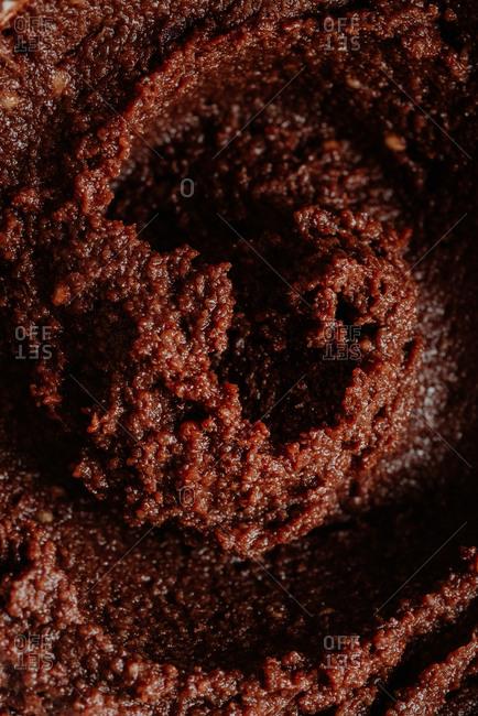 Close up of homemade hazelnut spread