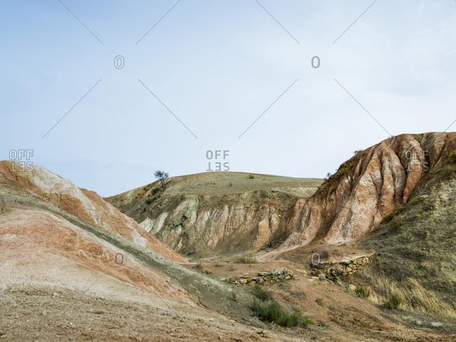 Desert landscape in Ardales, Malaga, Spain