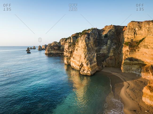 Cliffs of Lagos, Portugal, Europe