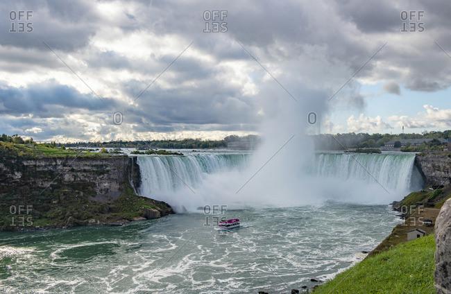 Niagara Falls, Ontario, Canada - October 16, 2017: Niagara Falls, Niagra Park, Ontario, Canada