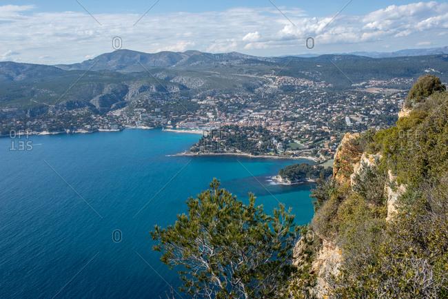 A cliff facing the Mediterranean sea