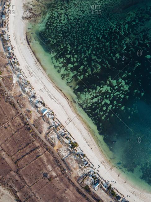 Aerial view of tropical beach