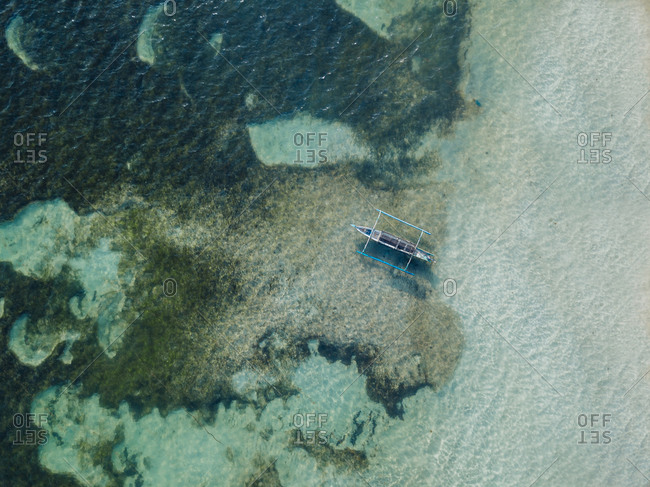 Aerial view of traditional boat