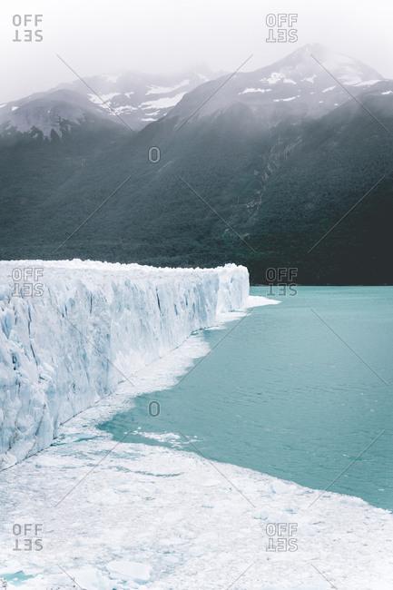 Scenic View of front of Perito Moreno Glacier above water