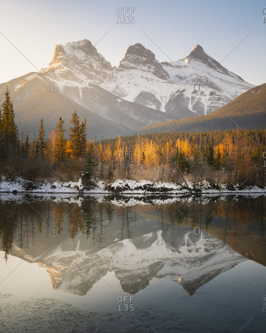 Three Sisters Mountains, Canmore, Alberta