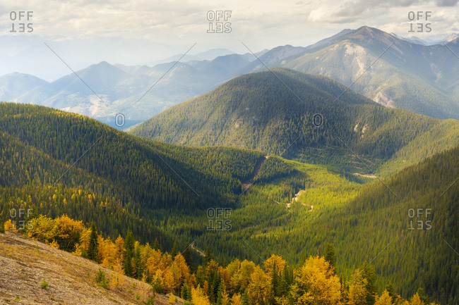 Rolling Mountains Pedley Pass in Fall, British Columbia, Canada