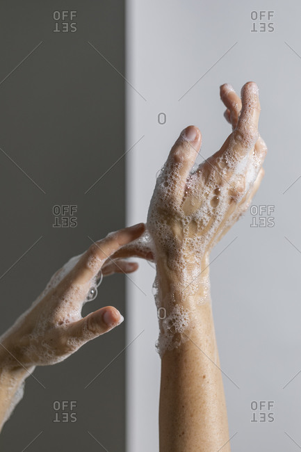 Guide for proper hand washing technique