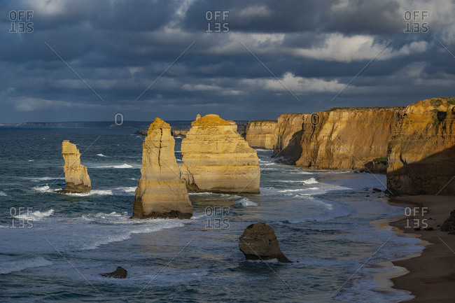 Scenic view of the Australian coast at the twelve apostles