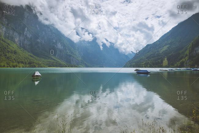 Lake and mountains in Glarus, Switzerland