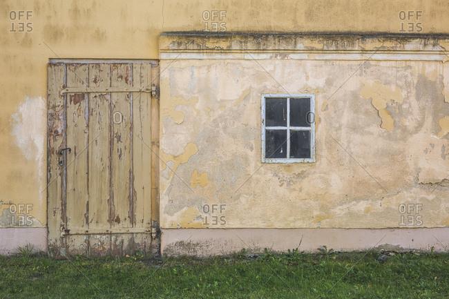 Germany- Brandenburg- Potsdam- Weathered exterior of old building
