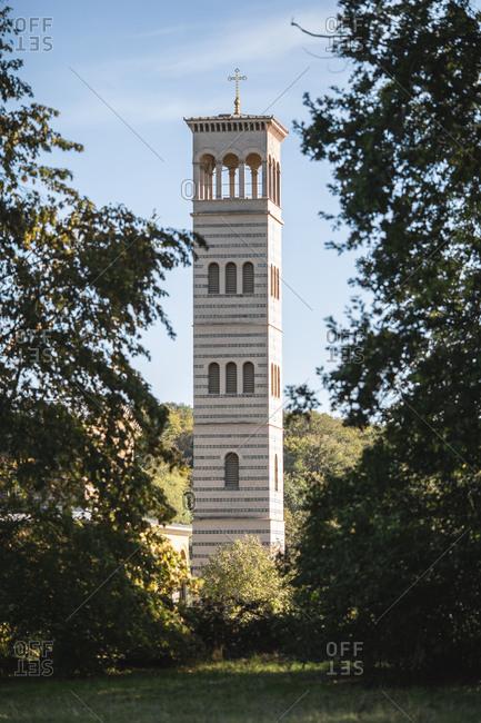 Germany- Brandenburg- Potsdam- Bell tower of Church of Redeemer