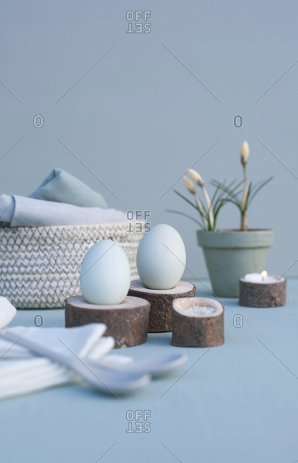 Germany- Studio shot of handmade Easter decorations