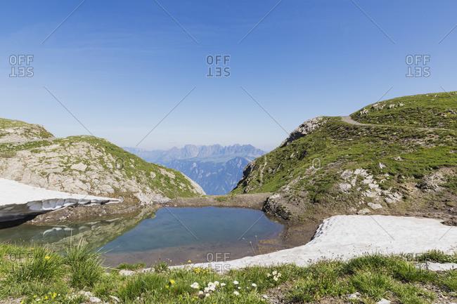 Switzerland- St Gallen Canton- Glarus Alps and Lake Walensee