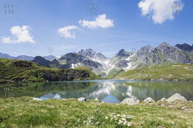 Switzerland- St Gallen Canton- Glarus Alps- Wangs Lake