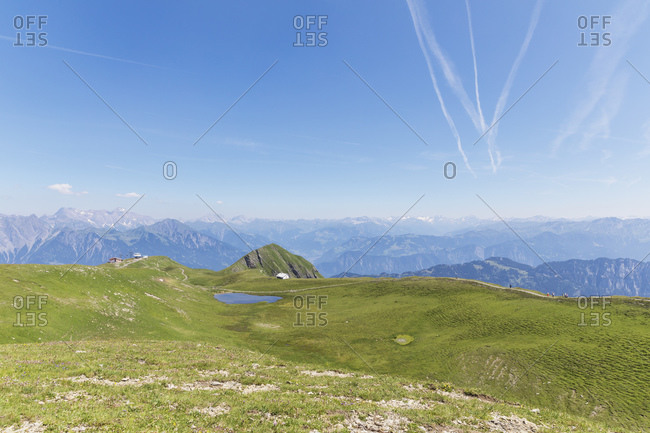 Switzerland- St Gallen Canton- Swiss Alps- Panoramic view of the mountains