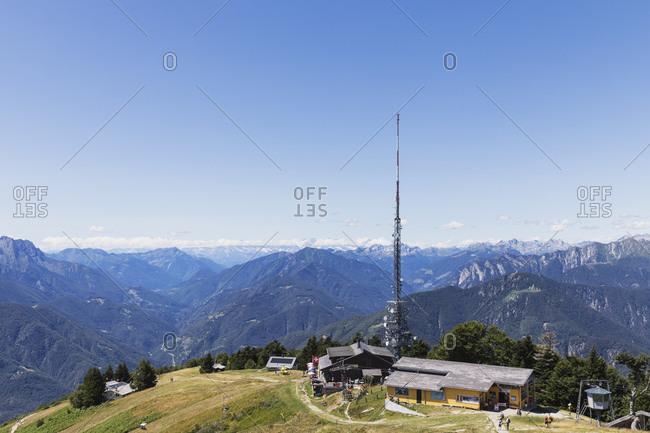 July 29, 2019: Cimetta cable car station- Locarno- Ticino- Switzerland