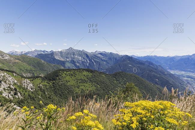 View from Cimetta mountain top- Locarno- Ticino- Switzerland