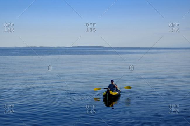 Canoeist in the sea- Kattegat- Tylosand- Halland- Sweden