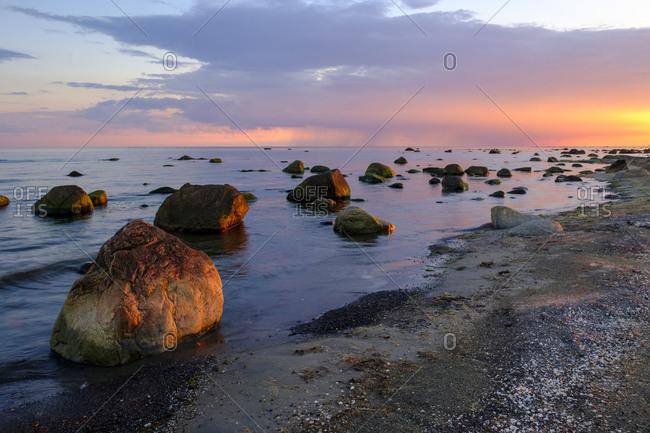 Sunset at the coast- Kattegat- Sardal nature reserve- Halland- Sweden