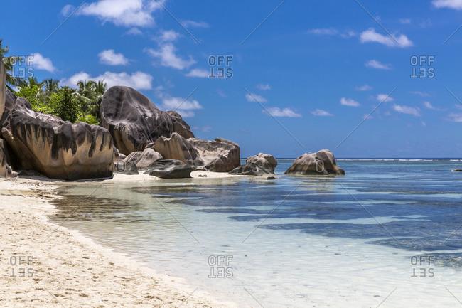 Seychelles- La Digue Island- Anse Source DArgent beach