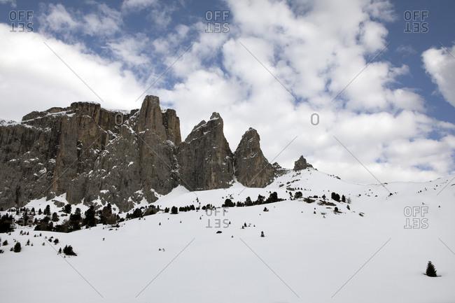 Sella group in winter- Dolomites- Alto Adige- Italy
