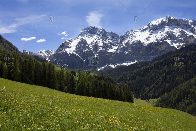 Panoramic mountain view in Val Badia- Alto Adige- Italy