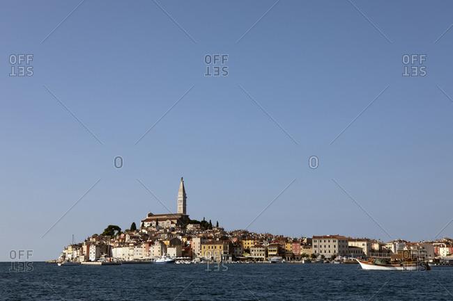 October 8, 2019: Croatia- Istria- Rovinj- View of the city