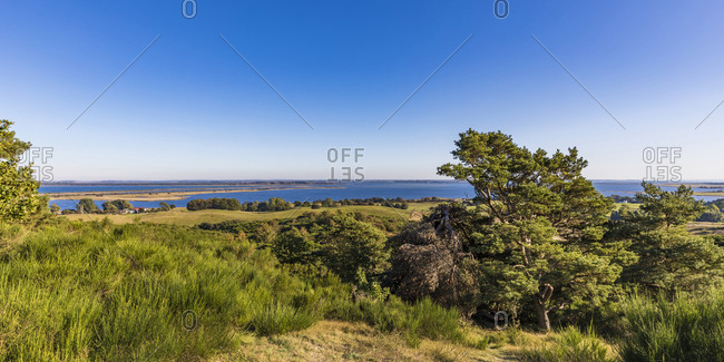 Germany- Mecklenburg-Western Pomerania- Clear sky over coastal landscape of Baltic Sea in spring