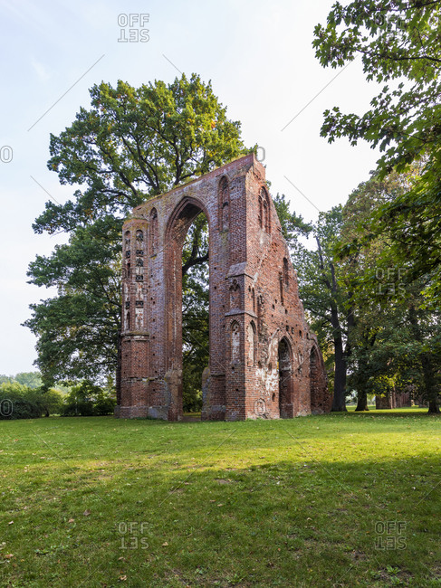 Germany- Mecklenburg-Western Pomerania- Greifswald- Ruins of Eldena Abbey