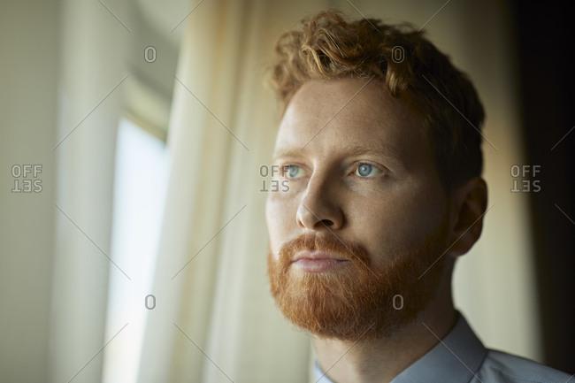 Portrait of serious businessman