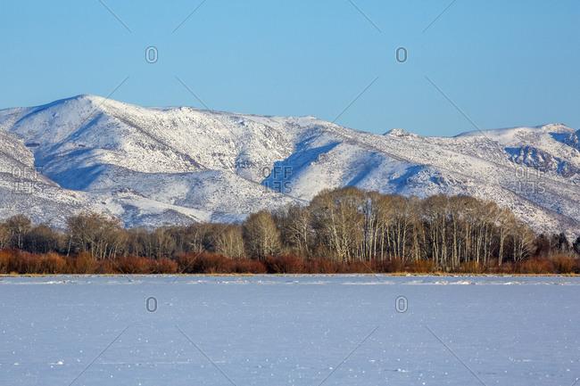 Snowy mountain in Picabo, Idaho