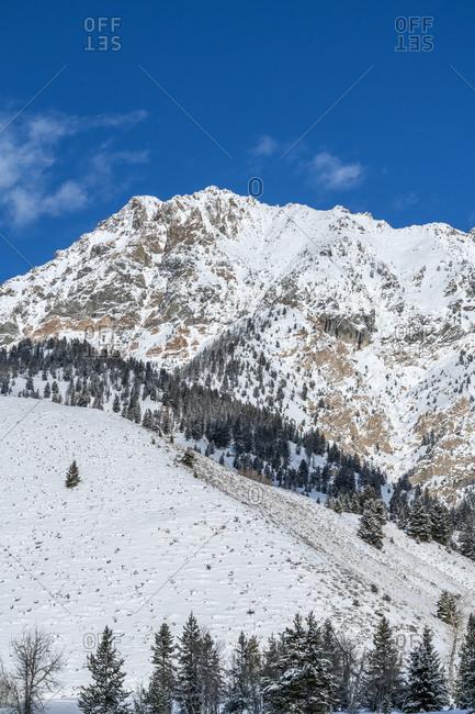 Snow on mountain in Sun Valley, Idaho