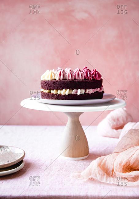 Red velvet chocolate beet cake