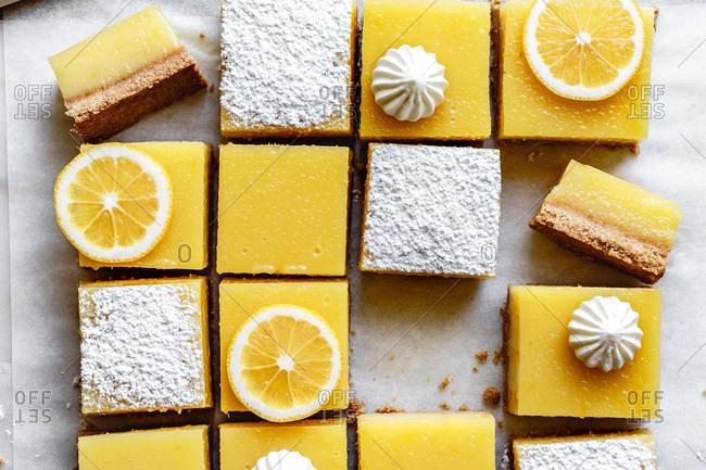 Gluten-free lemon bars with almond flour shortbread crust