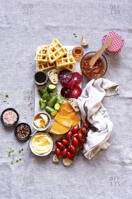 Sweet and Savory Breakfast Board