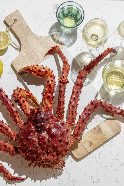King Crab with  white wine.